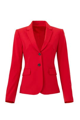 Red Carissa Blazer by Theory