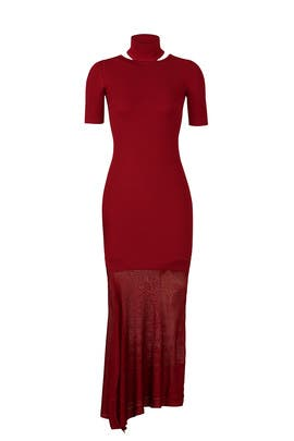 Burgundy Selima Dress by Cushnie Et Ochs
