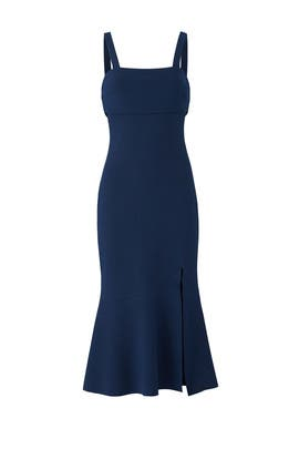 Navy Tribute Midi Dress by FINDERS KEEPERS
