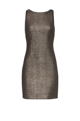 Metallic Mini Sheath by Halston Heritage