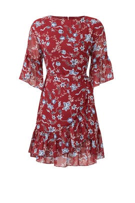 Red Floral Wendy Dress by Rebecca Minkoff