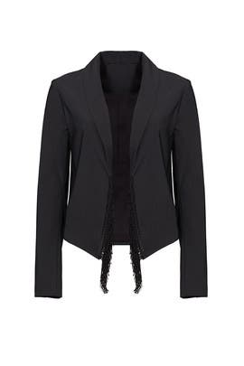Black Fringe Edge Blazer by 10 CROSBY DEREK LAM