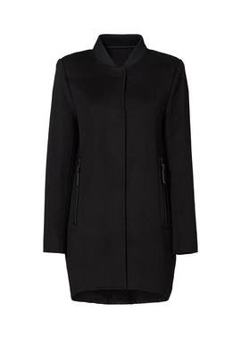 Black Wool Puffer Coat by 10 CROSBY DEREK LAM