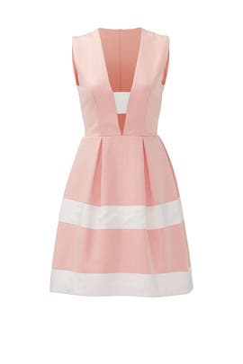 Pink Candy Stripe Dress by nha khanh