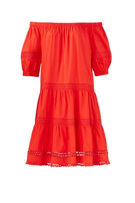Cherry Off Shoulder Dress by kate spade new york