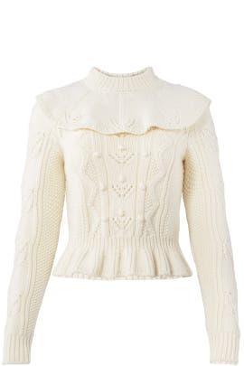 Ivory Ecru Sweater by RED Valentino