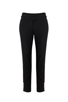 Black Straight Pants by Rachel Zoe