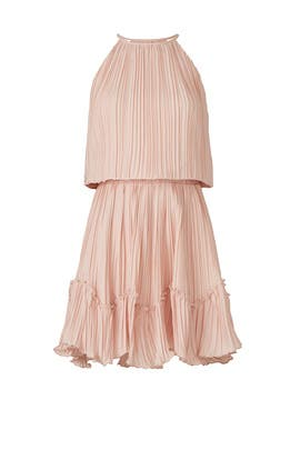 Pleated Blouson Dress by Halston Heritage