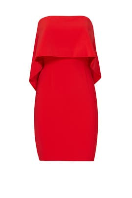 Red Viola Dress by Jay Godfrey
