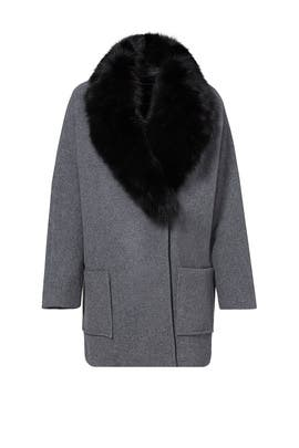 Graphite Carine Cocoon Coat by Andrew Marc