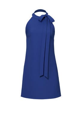 Blue Bow Crepe Dress by Hutch