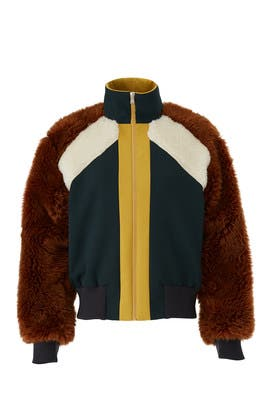 Combo Faux Fur Track Jacket by Sea New York
