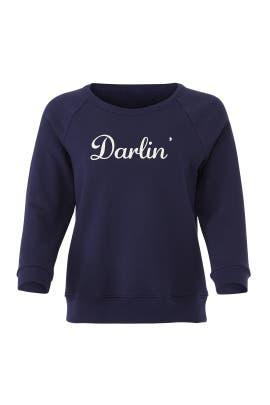 Navy Darlin Sweatshirt by Draper James