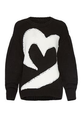 Olive Heart Sweater by Parker