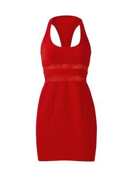 Red Perot Dress by Jay Godfrey