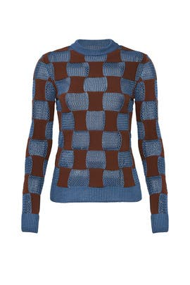 Opal Check Sweater by Marni