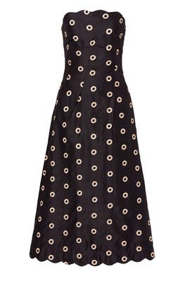 Dotted Gold Dress by Osman