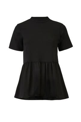 Black Double Layered Top by LOST INK