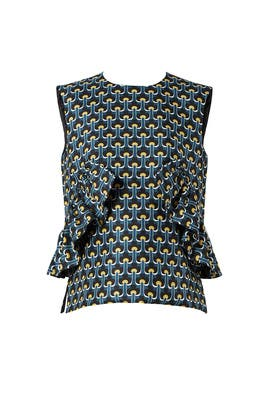 Printed Limoges Ruffle Top by Marni