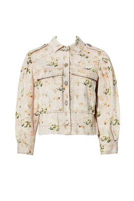 Floral Denim Jacket by Rebecca Taylor