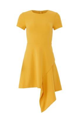 Yellow Drape Hem Dress by Slate & Willow