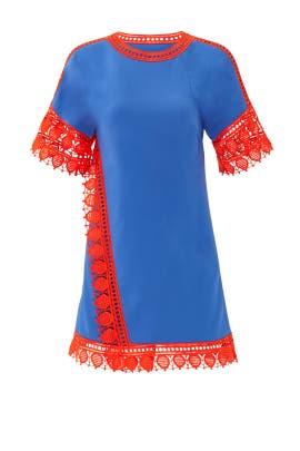 Fringed Marissa Dress by Tory Burch