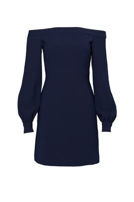 Blue Ink Shoulder Dress by Jill Jill Stuart