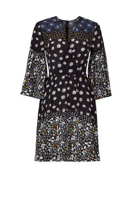 Prairie Floral Silk Dress by Suno