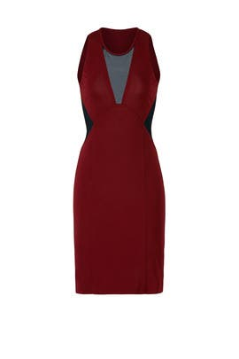 Burgundy Illusion Dress by Cut 25