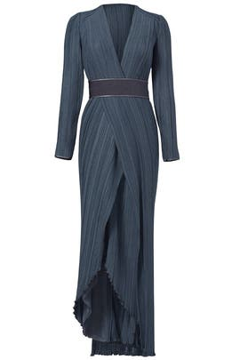 Dove Grey Pleat Gown by GALVAN
