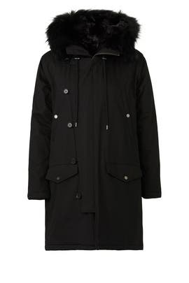 Black Technical Parka by The Kooples