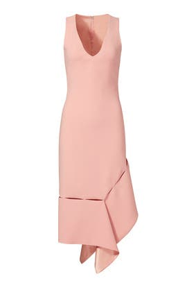 Tea Rose Side Slash Dress by Prabal Gurung