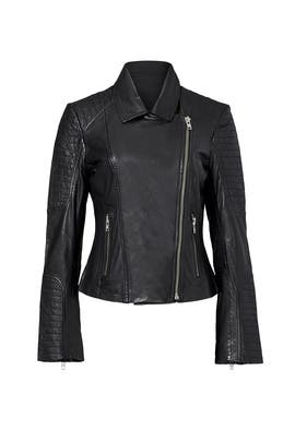 Black Benton Leather Jacket by BB Dakota