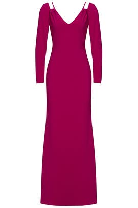 Fuchsia Cut Out Gown by Badgley Mischka