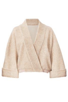 Oatmeal Sweater Jacket by Badgley Mischka
