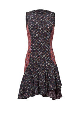 Medallion Print Silk Dress by 10 CROSBY DEREK LAM