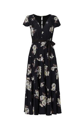 Black Floral Midi Dress by Free People