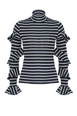 Navy Spiral Sweater by Nicholas