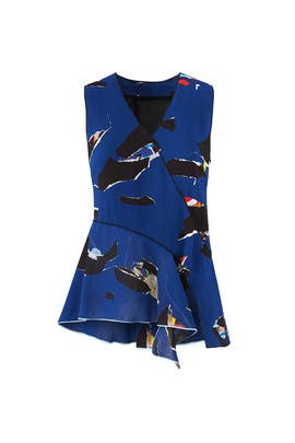 Indigo Collage Top by Proenza Schouler