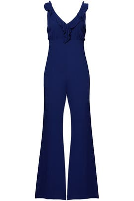 Blue Ruffle Jumpsuit by Privacy Please