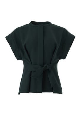 Green Wool Tradition Top by Sea New York