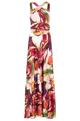 Hibiscus Floral Gown by Theia