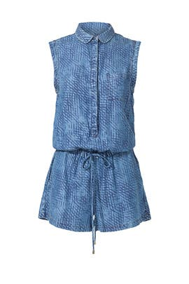 Denim Crosshatch Romper by TART Collections