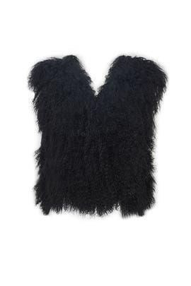 Black Anyssa Vest by Adrienne Landau