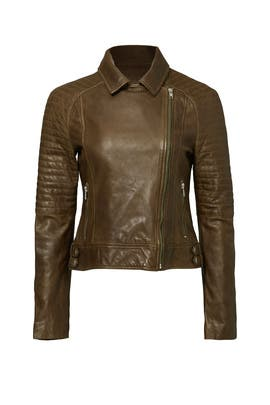Heely Dyed Leather Jacket by BB Dakota
