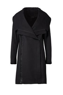 Black Nikki Coat by Badgley Mischka
