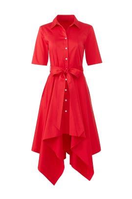 Crimson Red Shirtdress by Badgley Mischka
