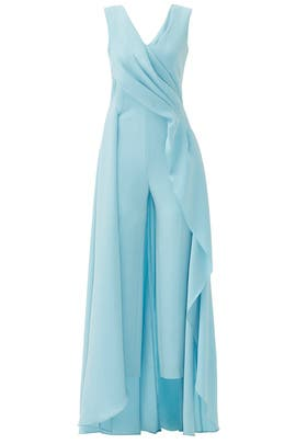 Light Blue Petal Jumpsuit by Escada