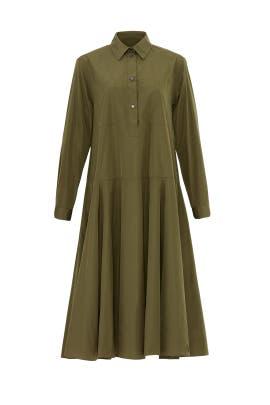 Tented Green Shirtdress by Jil Sander Navy