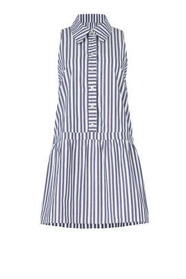 Striped Cornflower Shirtdress by The Jetset Diaries